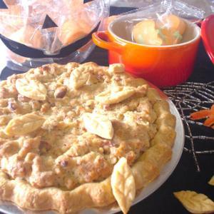 11月、<<秋のベーキングその2・アメリカ感謝祭のパイ「スウィートポテトウォールナッツパイ」一台仕上げ>>のご案内