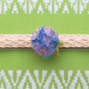 紫陽花の帯留め2点追加、計3点に。