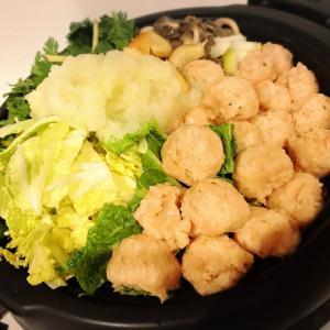 生姜鍋の夕食