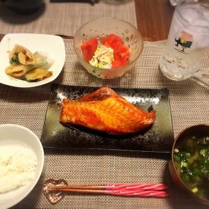 焼き魚晩酌と赤城さんのガツン、とシリーズ