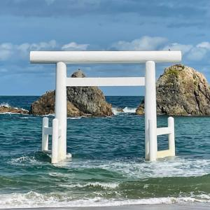 ほんとパワーある!糸島の夫婦岩、写真からでもすごい!
