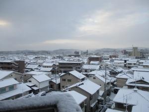 三次の雪景色
