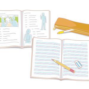 中学生の英語の授業は教科書のCDをまねする