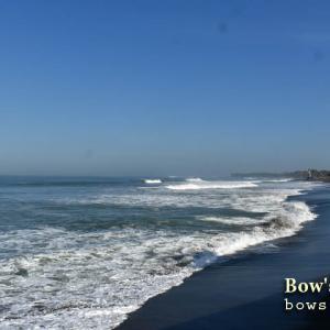 風が止まってグラッシーな波面