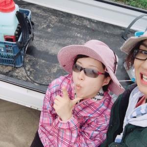 【さちえ】です~ビート畑周りに除草剤散布!!(*ノωノ)&18日イベント♪