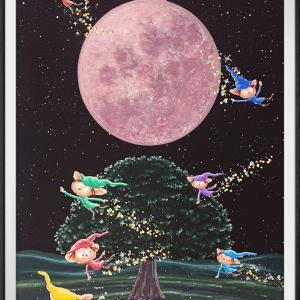 月と妖精の原画販売中❣️