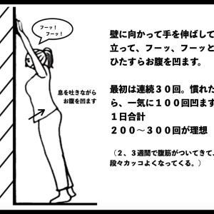 ユル〜い『カベ筋トレ』⑫ 簡単な方法でお腹を引っ込める!