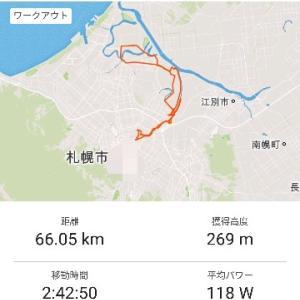 ◆朝66km