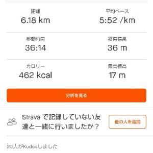 6/22(月)朝ラン36min