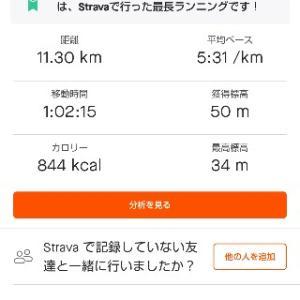 7/24(祝金)朝ラン11km /家族サイクリング
