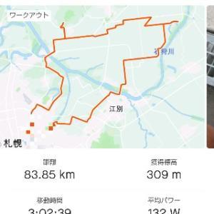 7/25(土)朝練83km