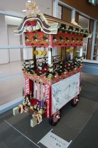 上野天神祭だんじり模型の展示(ハイトピア伊賀)