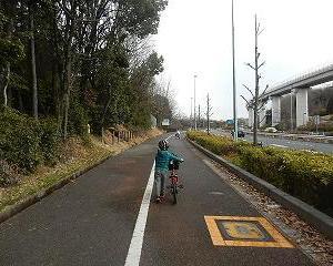 孫とモリコロパークまでサイクリング