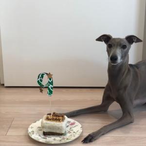 こじろう 9歳の誕生日ケーキ