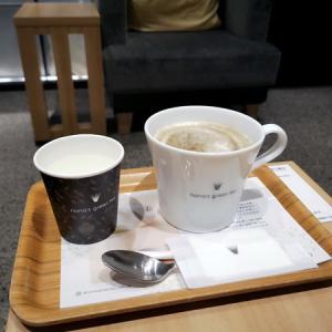 ほうじ茶ラテ@nana's green tea 調布パルコ店