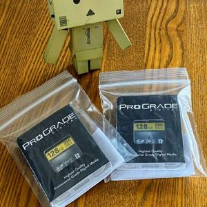 激安セールで買った、ProGrade Digital SDXC UHS-II V60 GOLD 250R メモリーカード