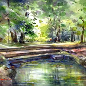 9月8日の水彩画