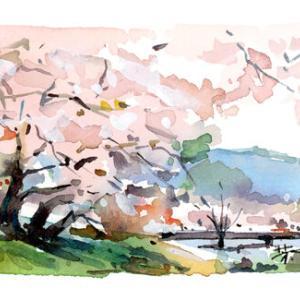 3月22日の水彩画