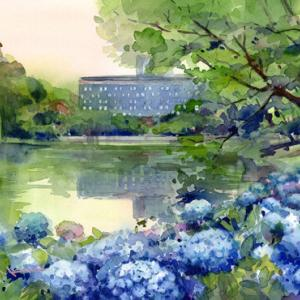 8月3日の水彩画