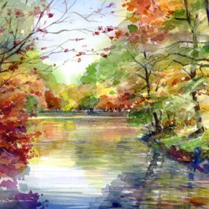 11月23日の水彩画