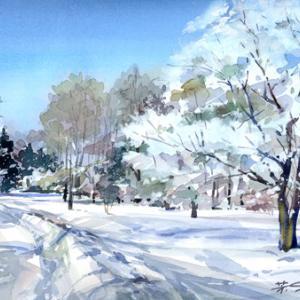 2月11日の水彩画