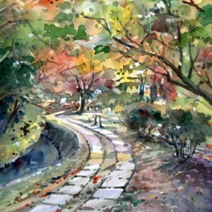 10月13日の水彩画