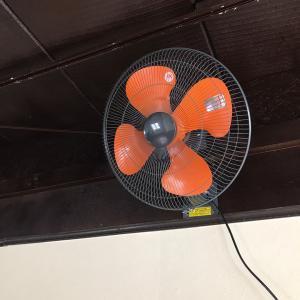大型扇風機取り付けました!