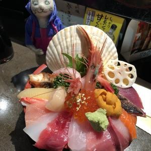 海鮮丼の3連チャン ■ 山さん寿し本店 VS ごはん処一歩 VS 氷見魚市場食堂 究極の漁師メシ
