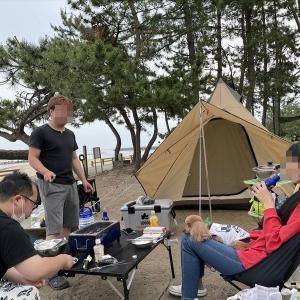 スパイスキャンプ部!■雨晴キャンプ場(高岡市)■ワカメおじさん!マトンカレー、シミチキ、ヤミチキ