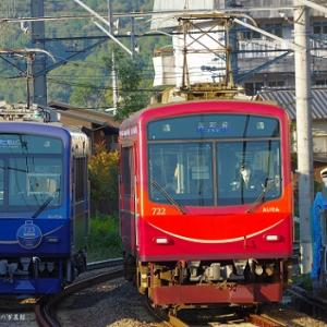 叡山電鉄のリニューアル車723号がこの日より運行開始。ついでに722号も