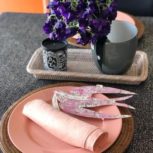 モノとゆっくり向き合う♡春色のお皿とナプキン♡
