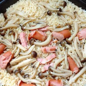 ガーリックペッパー風味ソーセージの炊き込みご飯