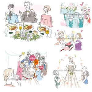 結婚情報誌「こまちWedding」イラスト