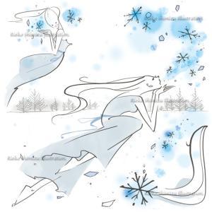 オリジナルイラスト----冬がはじまるよ