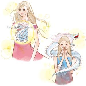 宝島社ムック--女性と龍のイラスト