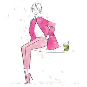 オリジナルイラスト---ピンクをかっこ良く。