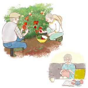 高齢者向け健康雑誌「健康365」--高齢者のイラスト