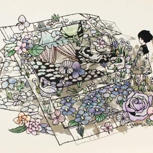 本日の叡王戦 in 神田明神 ~ 切り絵の世界