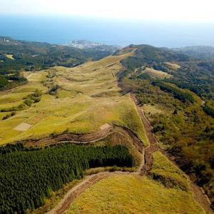 モンキーでお散歩 東伊豆 細野高原を空撮してきましたよー