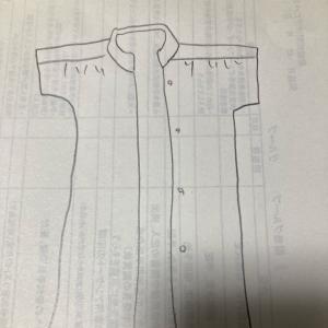 スタンドカラーのシャツワンピース制作