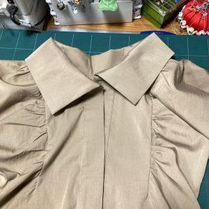 ぷわっと袖のトップス対応ジャケット制作 その3