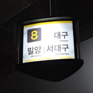 2019年   夏   韓国・食の旅  vol.6 AM1:00頃 ソウル高速ターミナルにて