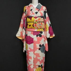春色のアンティーク小紋UPしました!!