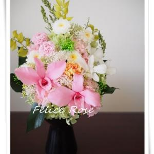 【オーダー】デンドロビウムの仏花