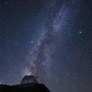浄土平天文台と夏の大三角