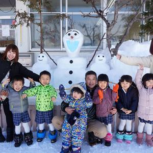 あすなろ幼稚園の雪像2020☆今年はオラフ~♪旭川市末広3条3丁目