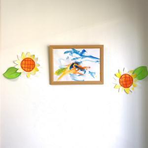 「くすのき整骨院」さん祝1周年!可愛い画伯くんの絵♪(旭川市末広1条9丁目)