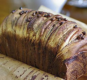 チョコたっぷりの変り巻食パン