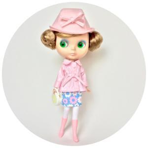ピンクのAラインジャケットセット
