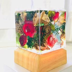◆固まるハーバリウムでクリスマスのイルミネーション作り☆クリスタル・アートリウム